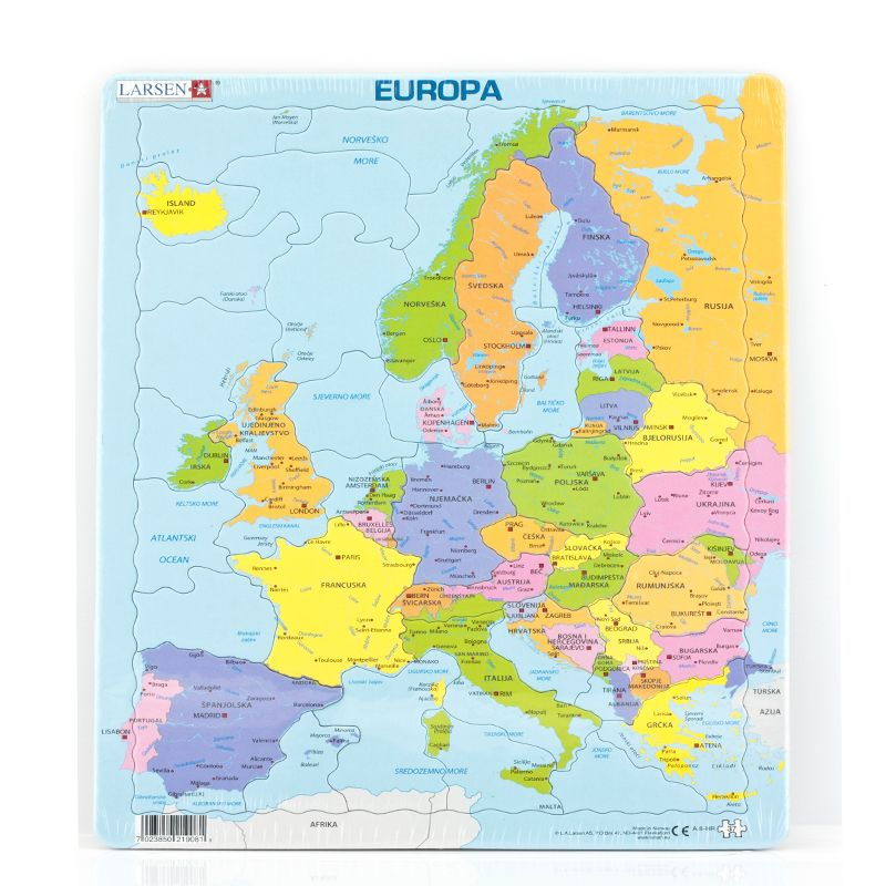 karta europe 2030 Puzzle karta Europe   Proizvod   Web shop   Ivančica d.d. karta europe 2030