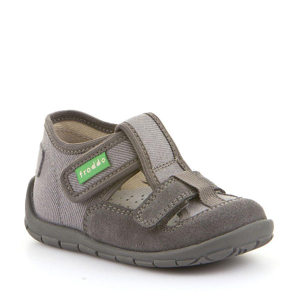 Sive personalizirane papuče s dva čička za dječake picture