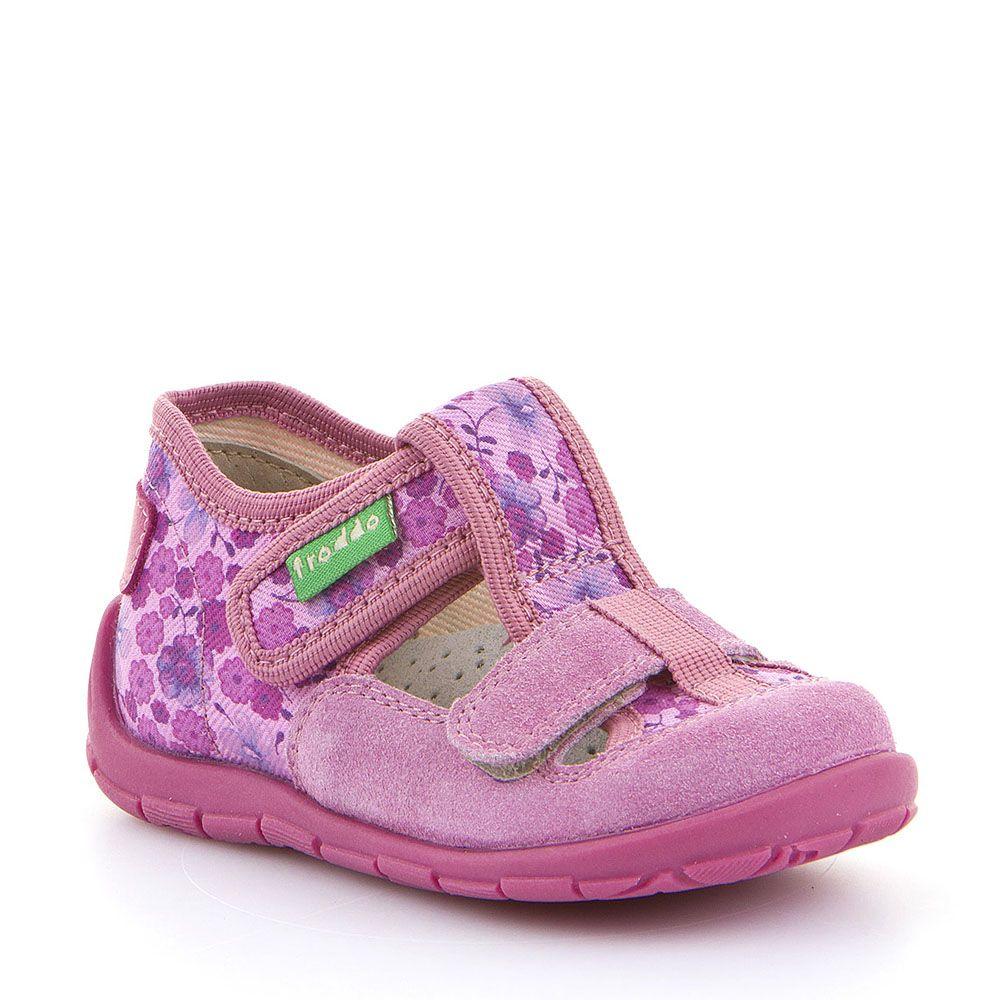 Cvjetno roze personalizirane papuče za djevojčice s dva čička picture