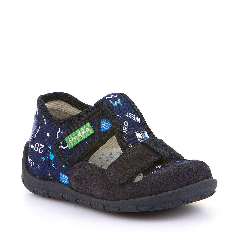 Personalizirane papuče s dva čička za dječake u tamno plavoj boji picture