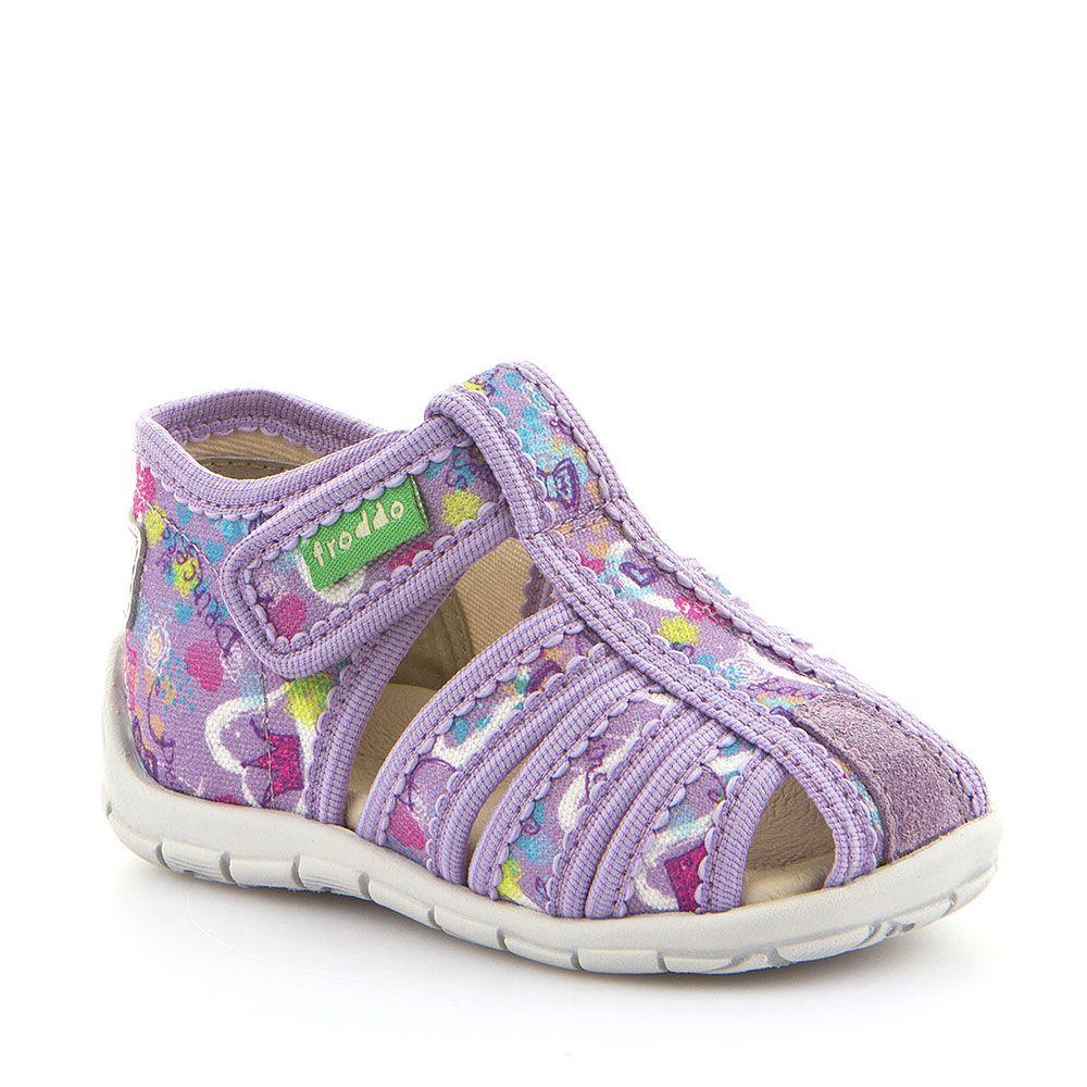 Otvorene personalizirane papuče za djevojčice u lila boji picture