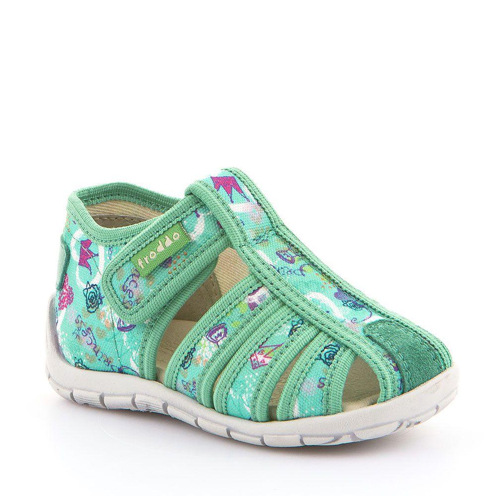 Otvorene personalizirane papuče za djevojčice u tirkiznoj boji picture
