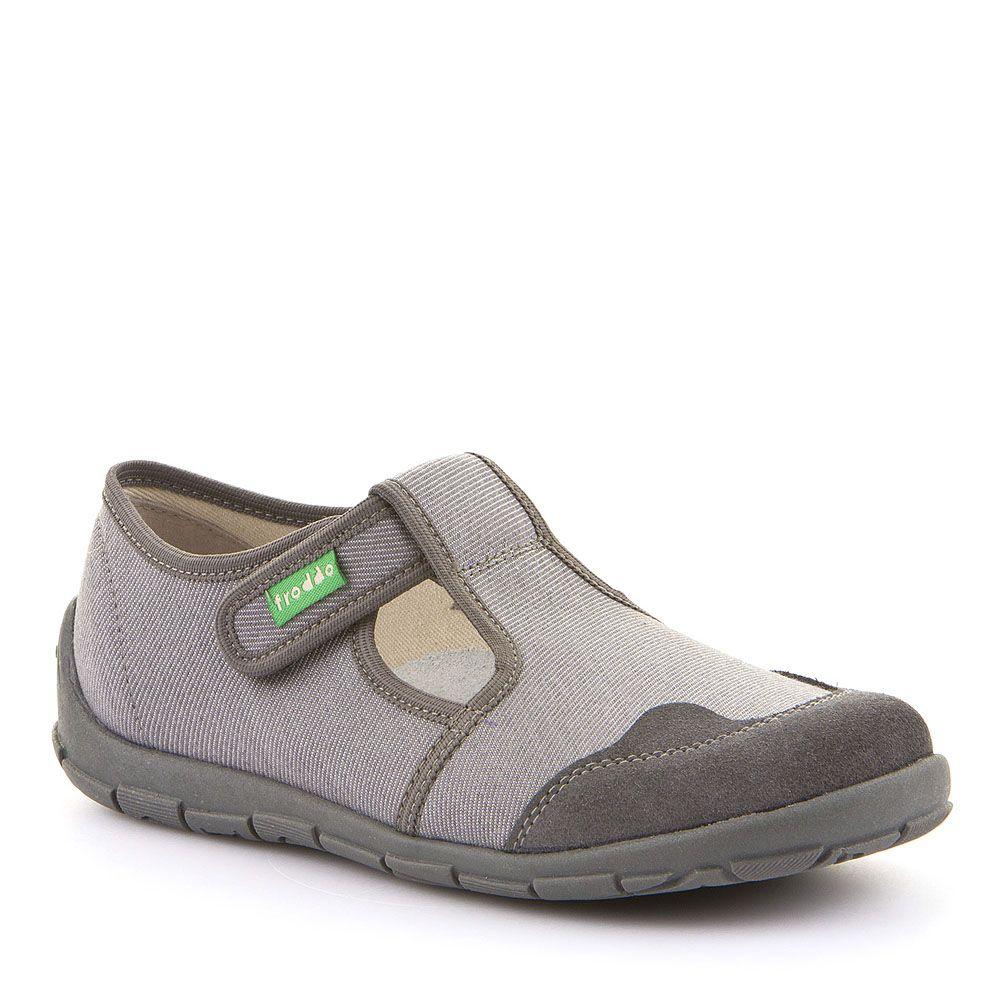 Poluotvorene papuče za dječake u sivoj boji picture