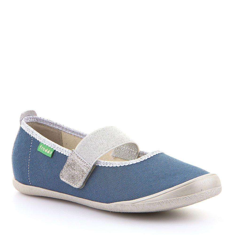 Plave papuče za djevojčice sa elastičnom trakom picture