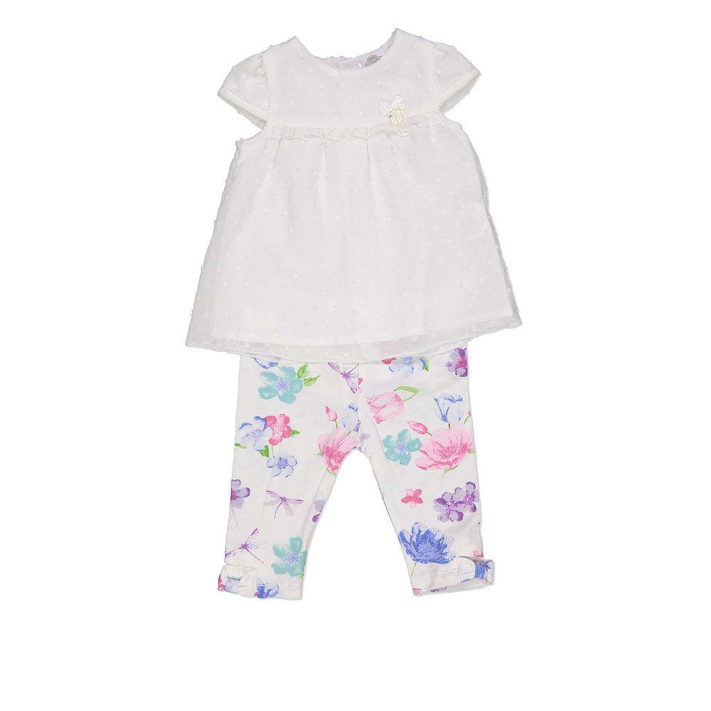 Baby komplet hlače cvjetnog uzorka i majica bez rukava picture