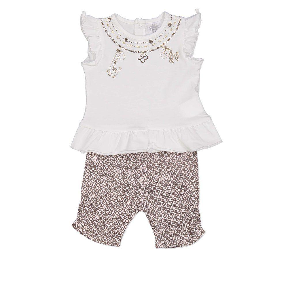 Baby komplet kratke hlače i majica s printom picture