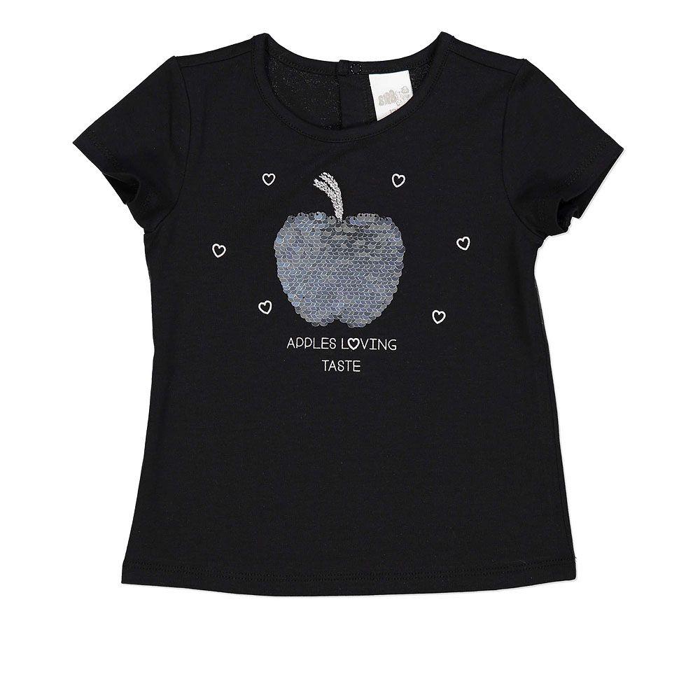 Baby majica kratkih rukava u crnoj boji picture
