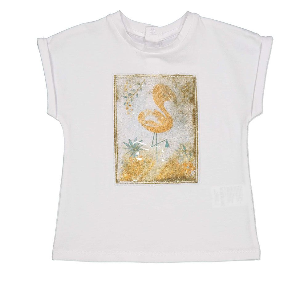 Baby majica od udobnog pamuka s printom flaminga picture