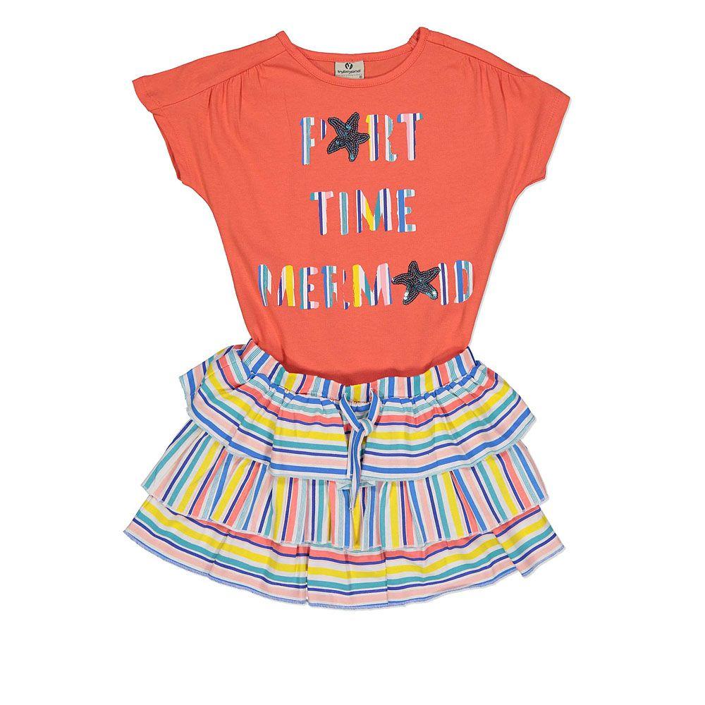 Ljetni komplet za djevojčice majica i suknja picture