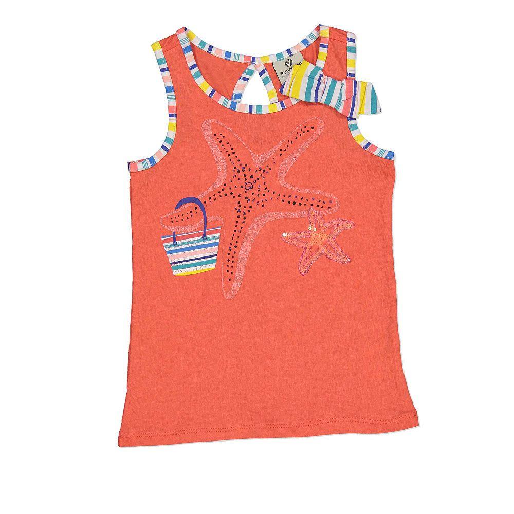 Majica bez rukava s 3D mašnicom i morskom zvijezdom picture