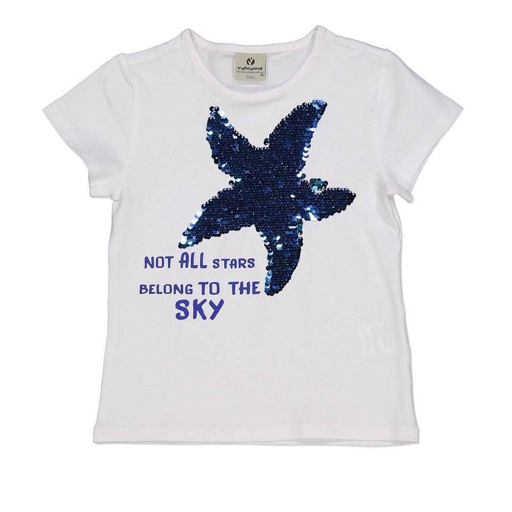Majica za djevojčice od pamuka s printom zvijezde picture