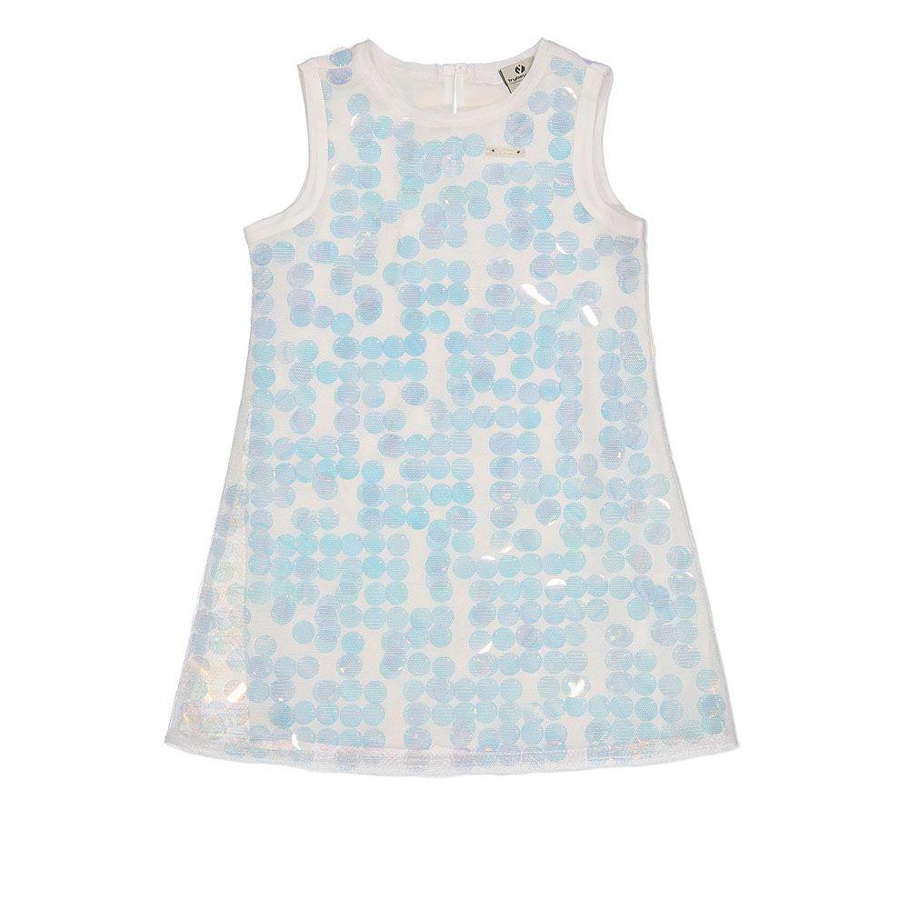 Pamučna ljetna haljina s točkicama picture