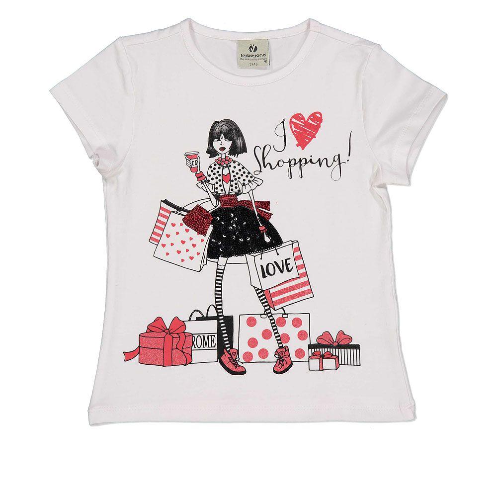 Pamučna majica za djevojčice kratkih rukava picture