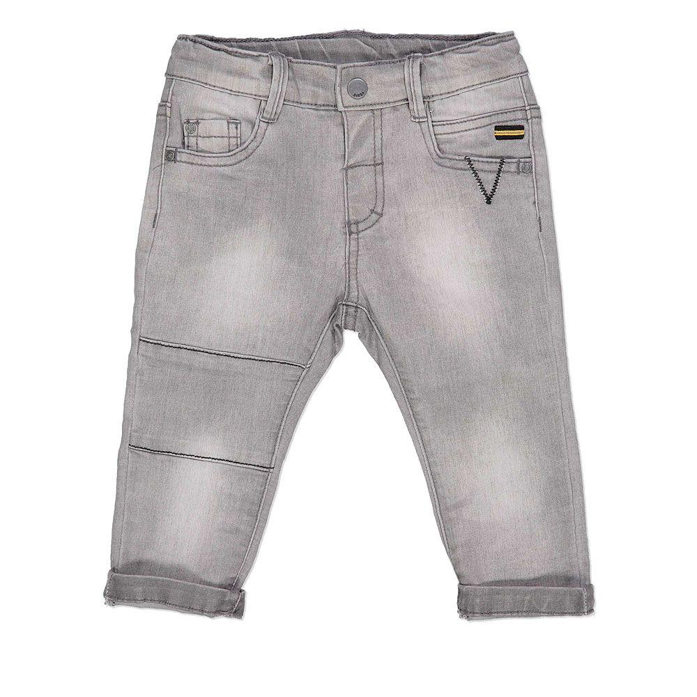 Rastezljive baby traper hlače za dječake ispranog izgleda picture