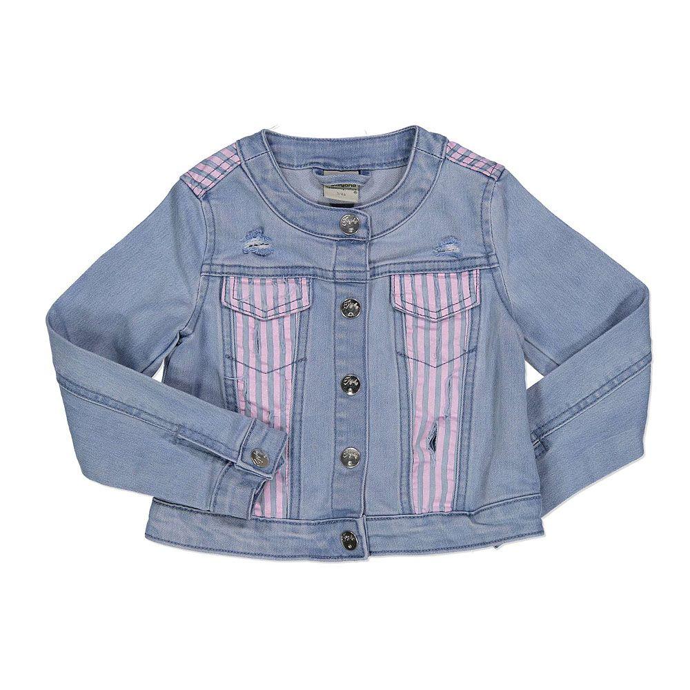 Traper jakna za djevojčice sa rozim detaljima picture