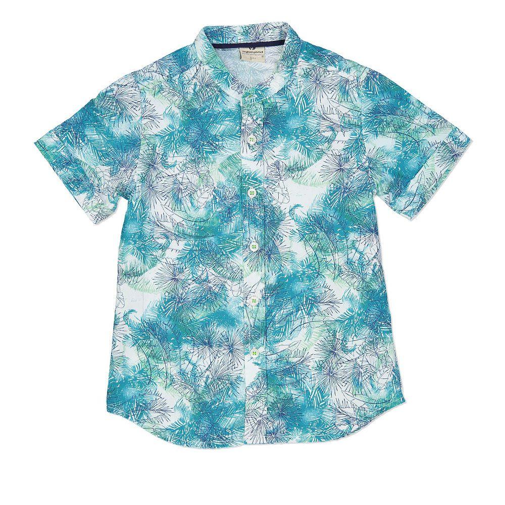 Udobna pamučna košulja za dječake plave boje picture