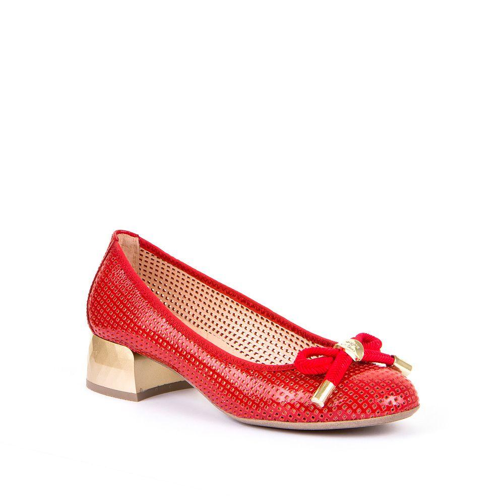 Ženske Hispanitas cipele u crvenoj boji s blok potpeticom picture