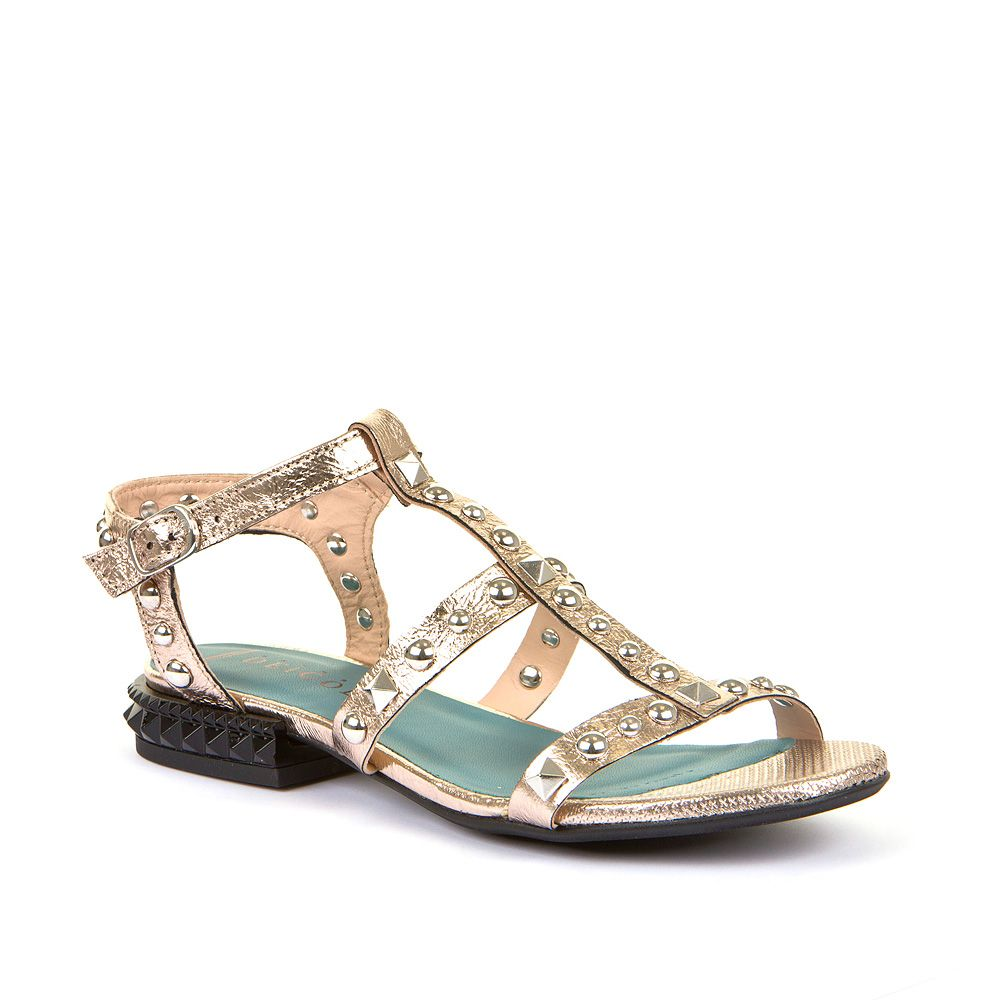 Ženske zlatne sandale sa zakovicama Dei Colli picture