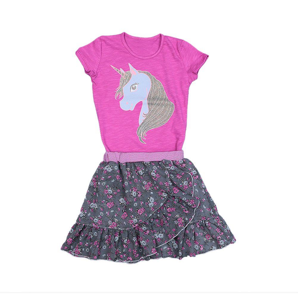 Majica sa jednorogom i suknja s volanima za djevojčice branda Sanik picture