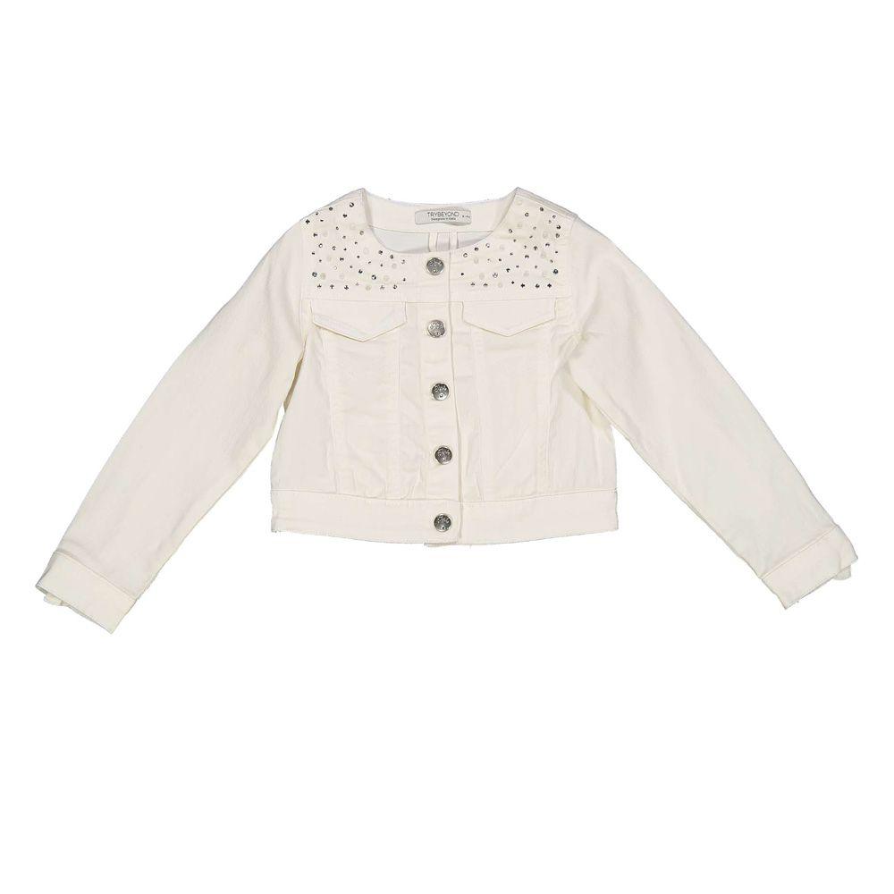 Bijela jakna za djevojčice picture