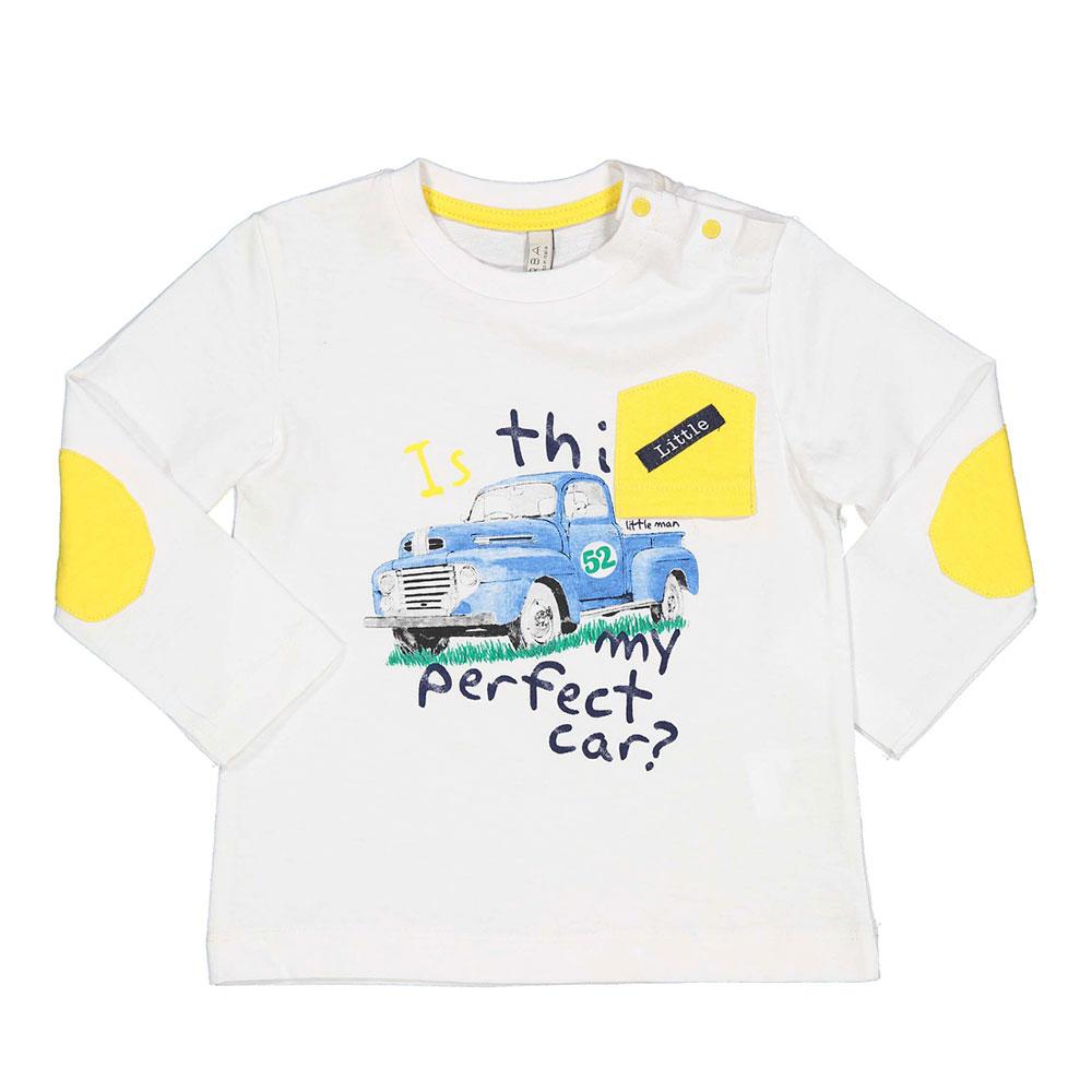 Baby bijela majica s printom picture