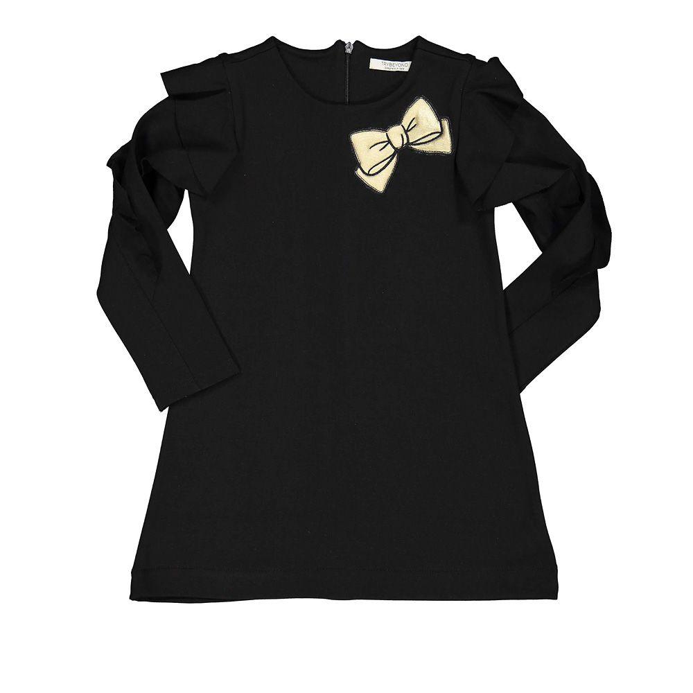 Dječja crna haljina s mašnicom picture