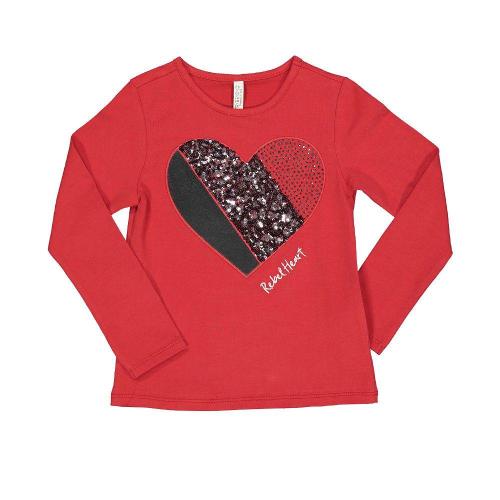 Dječja crvena majica s motivom srca picture