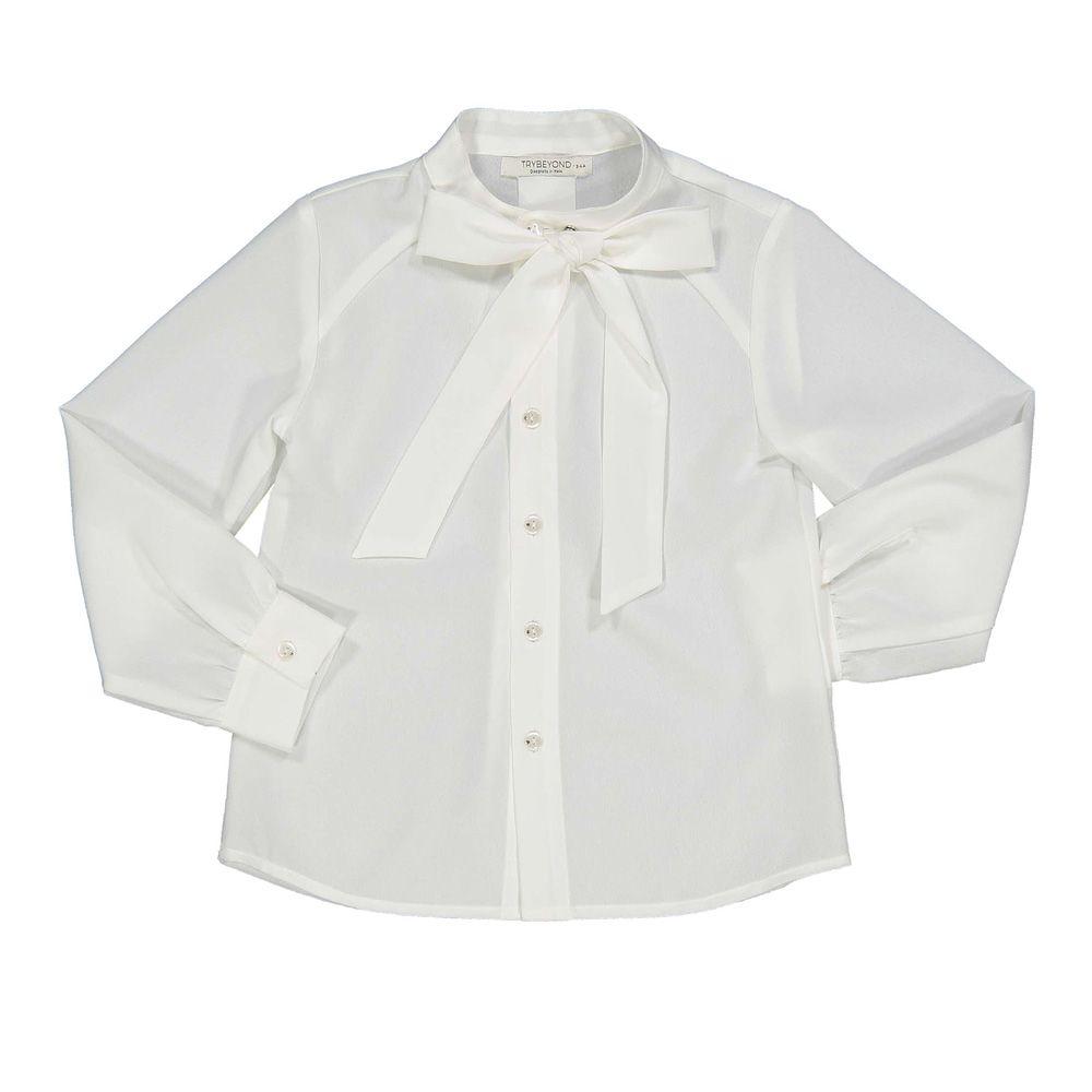 Košulja za djevojčice s 3D mašnom picture