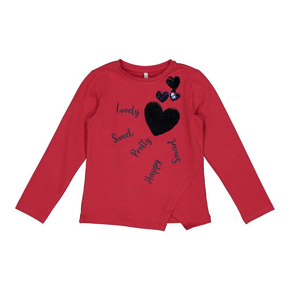 Crvena majica za djevojčice sa shinny srcem picture