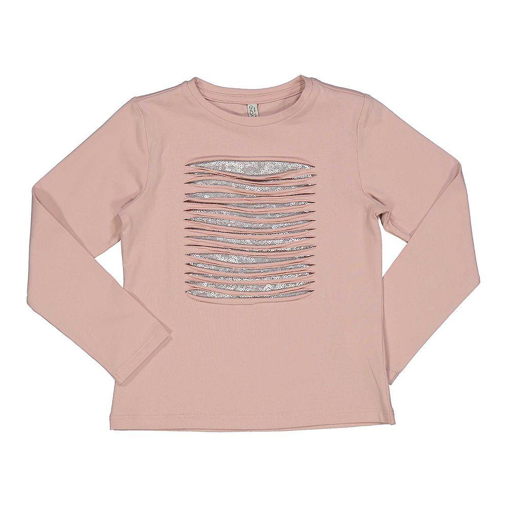Roza majica za djevojčice s glitter detaljima picture