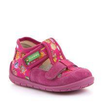 Fuksija roze personalizirane papuče za djevojčice s dva čička picture