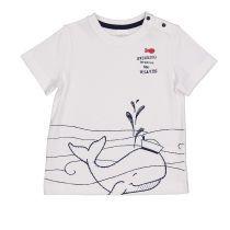 Baby pamučna majica morskih motiva bijele boje picture