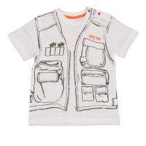 Majica baby od kvalitetnog pamuka sa safari printom picture