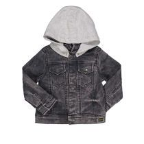 Baby jakna imitacije trapera s kapuljačom picture