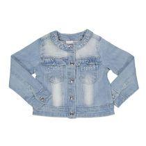 Baby jakna za djevojčice imitacije trapera s ukrasnim detaljima picture