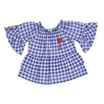 Dječja lepršava košulja za djevojčice u plavoj boji picture