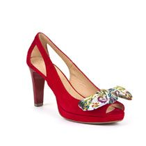 Ženske Hispanitas crvene cipele na petu s mašnom picture