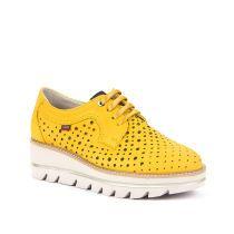 Ženske cipele Callaghan u žutoj boji sa satenskim vezicama picture