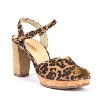 Ženske sandale na petu s leopard uzorkom Paul Green picture
