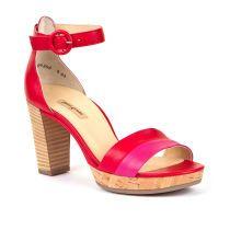 Ženske crveno-roza sandale na petu Paul Green picture