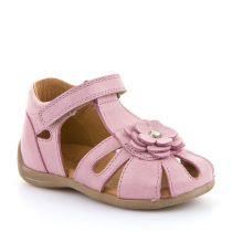 Sandale za djevojčice Froddo s čičak trakom i cvjetnim detaljima picture