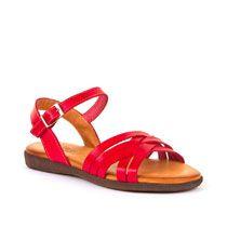 Crvene kožne sandale Raquel Perez picture