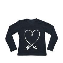 Majica za djevojčice u crnoj boji picture