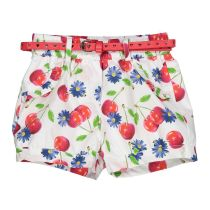 Kratke hlače za djevojčice s motivom trešnja i remenom picture