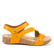 Ženske kožne sandale žute boje picture