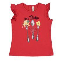 Baby majica za djevojčice crvene boje picture