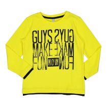 Žuta majica za dječake s printom picture